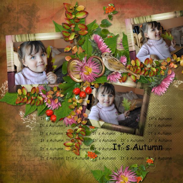 Autumn Flowers (Black Lady) - Layout 1 (Twin_Tina)