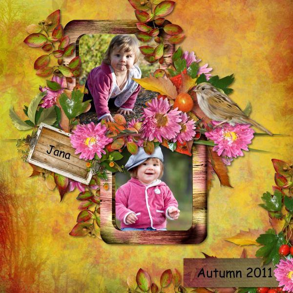 Autumn Flowers (Black Lady) - Layout 2 (Twin_Tina)
