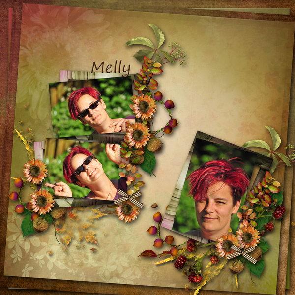 Autumn Flowers (Black Lady) - Layout 1 (Twin_Kati)