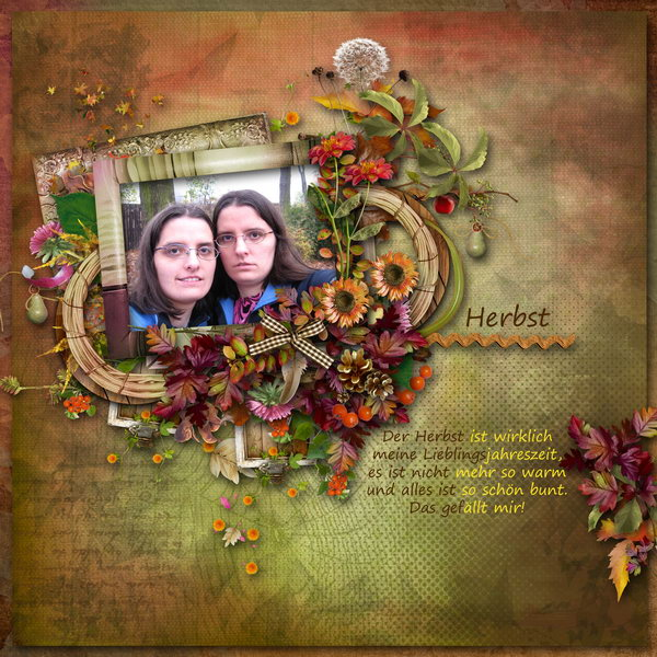 Autumn Flowers (Black Lady) - Layout 2 (Twin_Kati)