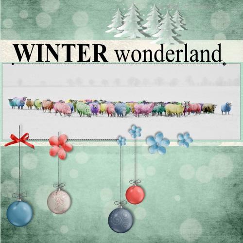 Dec.2016 - lo 1 - Winter wonderland - colored sheeps