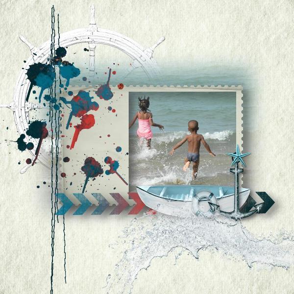 """A la plage"" by Perline designs"