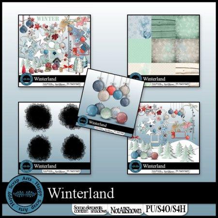 Winterland bundle de Happy Scrap Arts