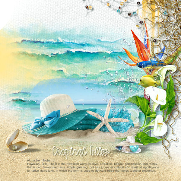 TROPICAL BLISS by Vanila M Designs
