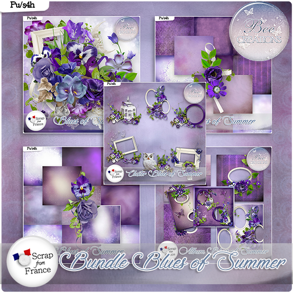 Blues of Summer Bundle (PU/S4H) by Bee Creation