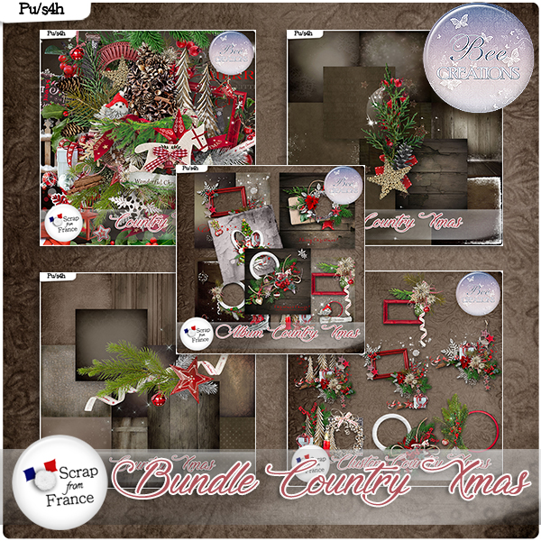 Country Xmas Bundle (PU/S4H) by Bee Creation