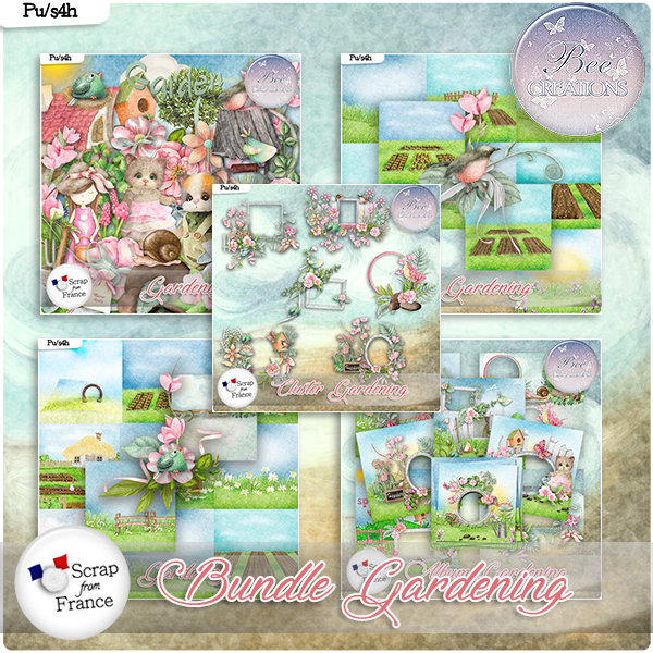 Gardening Bundle (PU/S4H) by Bee Creation