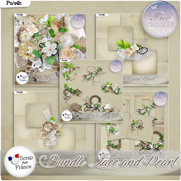 Lace and pearl Bundle (PU/S4H) by Bee Creation