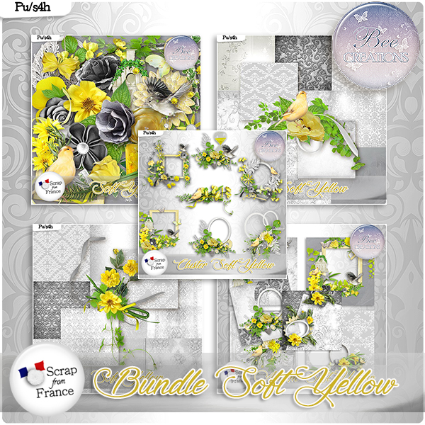 Soft Yellow Bundle (PU/S4H) by Bee Creation