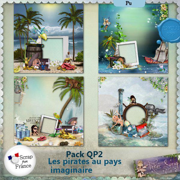 Les pirates au pays imaginaire Pack QP 2 par TinkerScrap