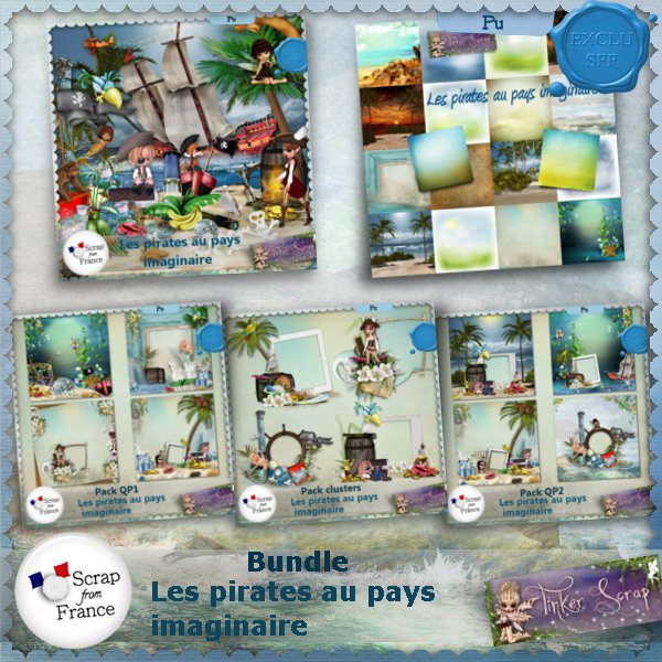 Les pirates au pays imaginaire Bundle par TinkerScrap