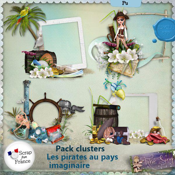 Les pirates au pays imaginaire Pack clusters par TinkerScrap